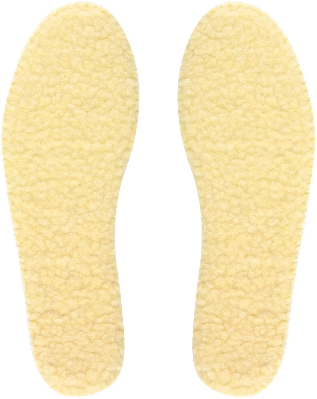 Knixmax Kids Boys Girls Sheepskin Insoles Comfort Warm Wool Insoles for Boots Shoes Slippers Little Kid 11 US/EU 28