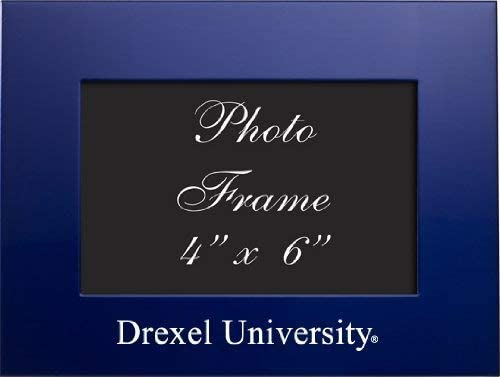 LXG, Inc. Drexel University - 4x6 Brushed Metal Picture Frame - Blue