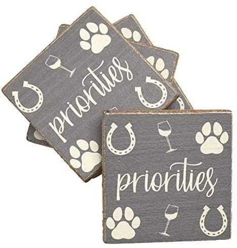 Rustic Marlin Coasters, Priorities, Set of 4