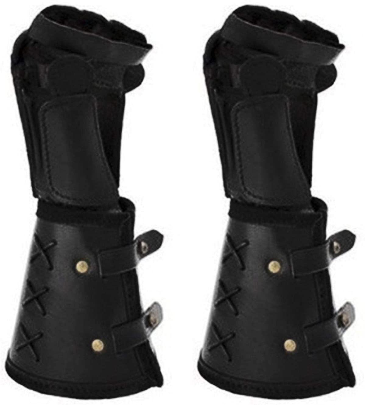 Obobb Leather Bracers,Leather ArmorGauntlet Wristband Medieval Vambrace Arm Cuff Armor Leather Arm Bands