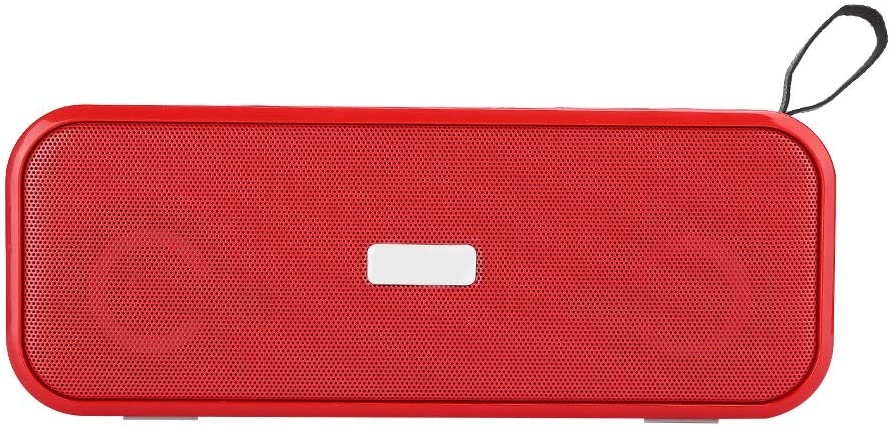 Bluetooth Speaker, Portable Bluetooth 5.0 USB Wireless Speaker with Colorful Lights Support FM Radio/AUX/Memory Card/Hand‑Free Calling for Smartphone, Tablet, MP3, MP4, PC, etc.(Red)