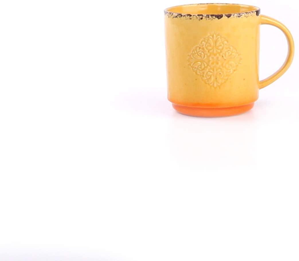 Foodesign Colors of Italy Orange Stoneware Mug, Set of 4