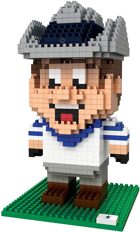 FOCO NFL Dallas Cowboys BRXLZ 3D Blocks Set - MascotBRXLZ 3D Blocks Set - Mascot, Team Color, One Size