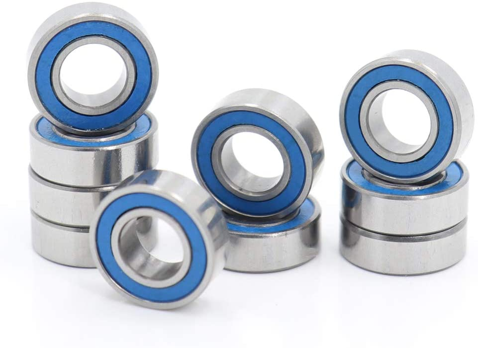 MR126RS Ball Bearing 6x12x4mm Compatible with Traxxas 5117,6x12 ABEC-3 Blue Rubber Sealed Ball Bearings (Pick of 10pcs)