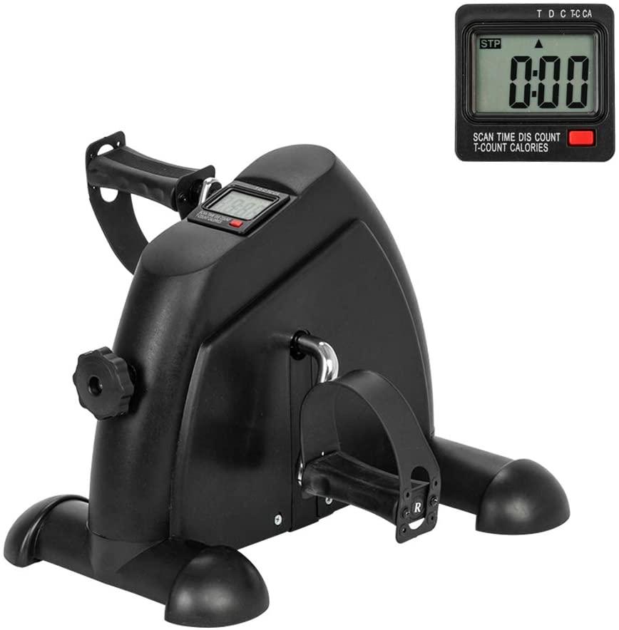 Zebery Under Desk Bike Pedal Exerciser, Portable Pedal Exerciser for Arm/Leg Exercise, Peddler Exerciser Desk Bike with LCD Display