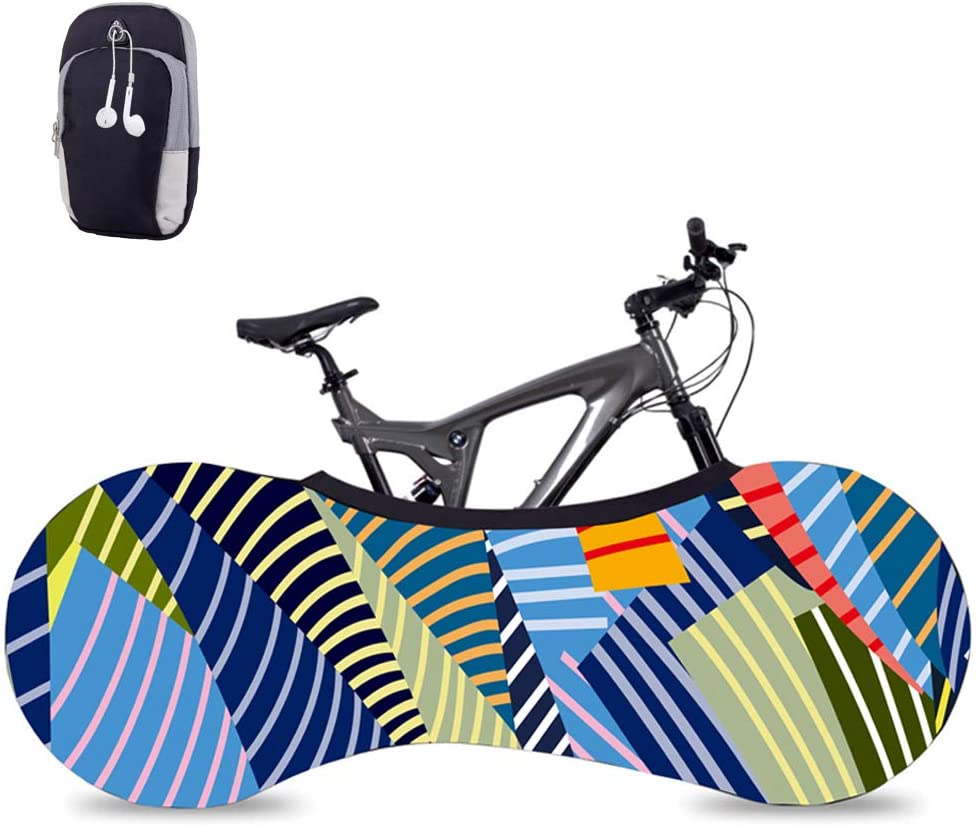 Dikley Bicycle Wheel Cover+Phone Arm Band Gym Phone Holder for Arm, Anti-dust Bike Indoor Storage Bag Scratch-Proof, Washable High Elastic Tire Package,Sports Phone Bag Bike Covers