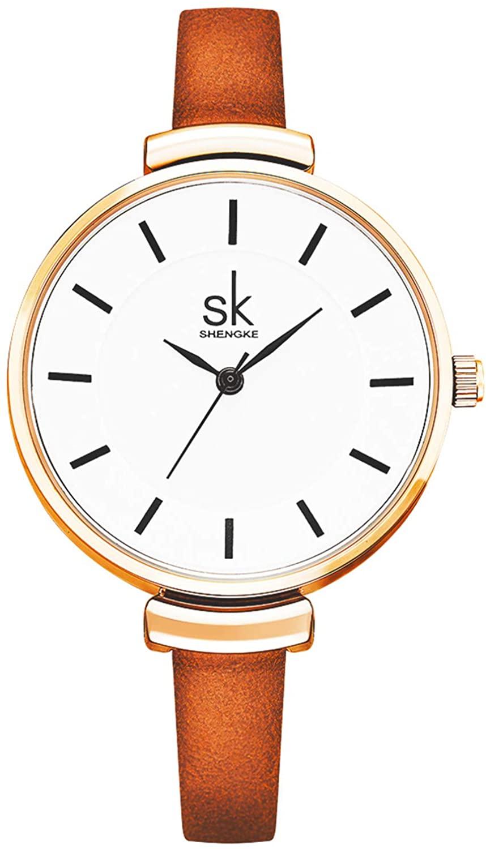 SK Women Watches Small Watches for Women Leather Band Luxury Japanese Quartz Watches Girls Ladies Wristwatch Relogio Feminino