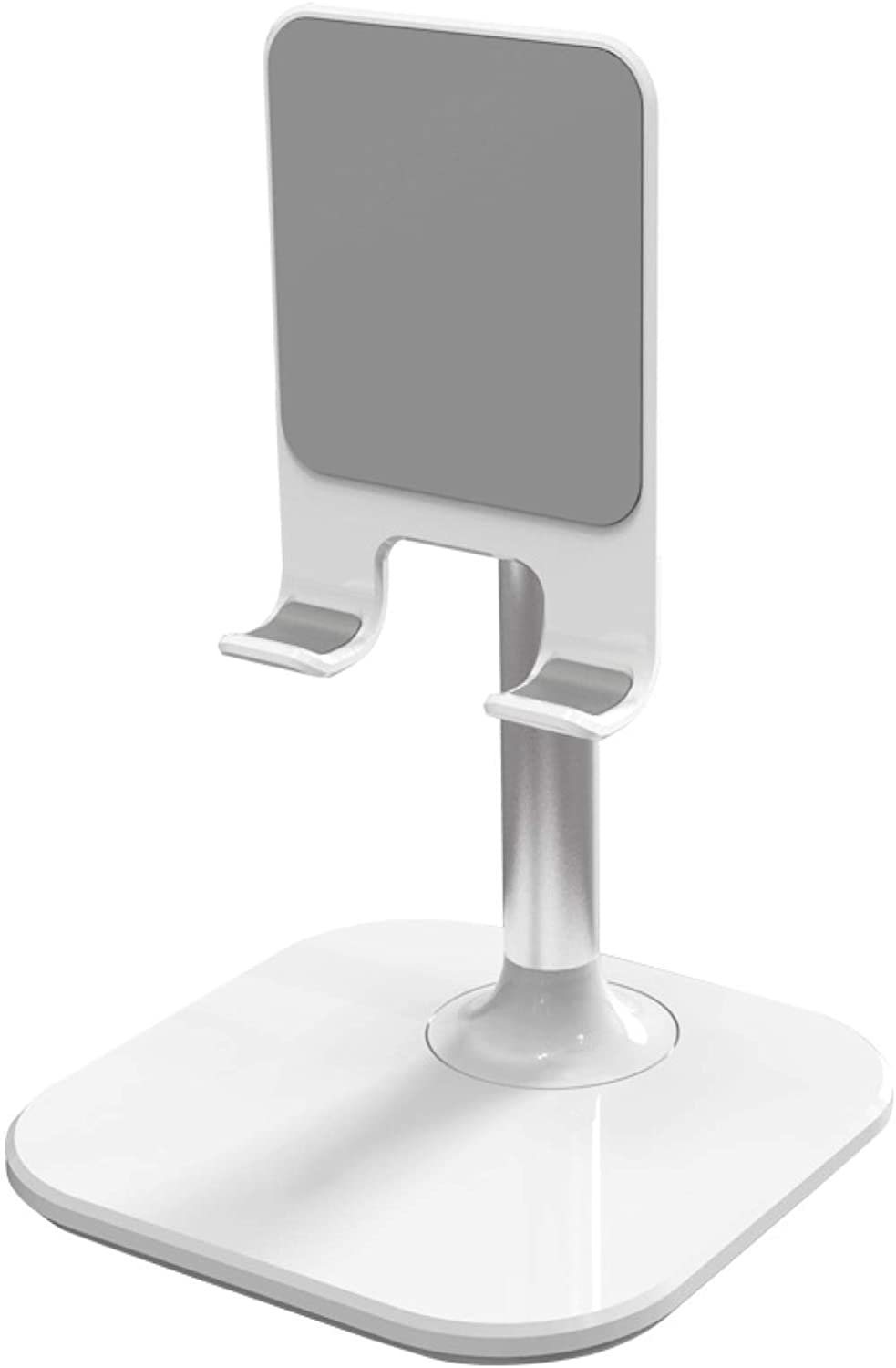 MOHALIKO Cell Phone Stand, Adjustable Cell Phone Stand, Anti-Slip Adjustable Retractable Aluminum Alloy Desktop Phone Tablet Holder Compatible Most of Smartphones White