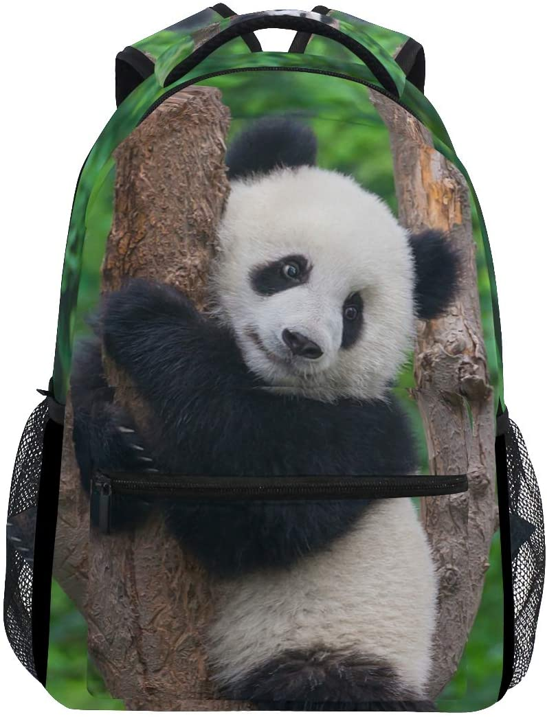 ALAZA Cute Panda On The Tree Stylish Large Backpack Personalized Laptop iPad Tablet Travel School Bag with Multiple Pockets for Men Women College