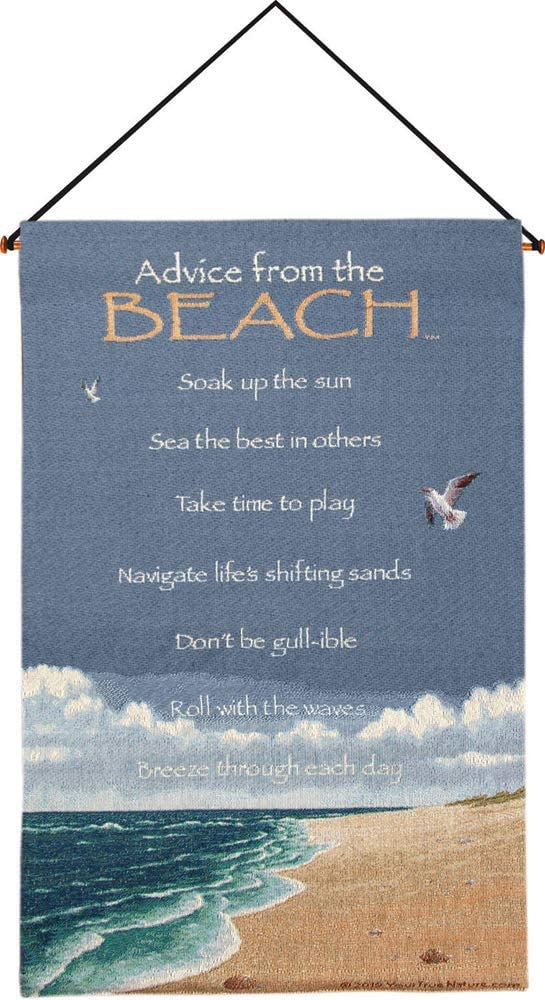 Manual Woodworker HWATB Advice from The Beach Wall Hanging, 17 x 26 inch, Multicolor