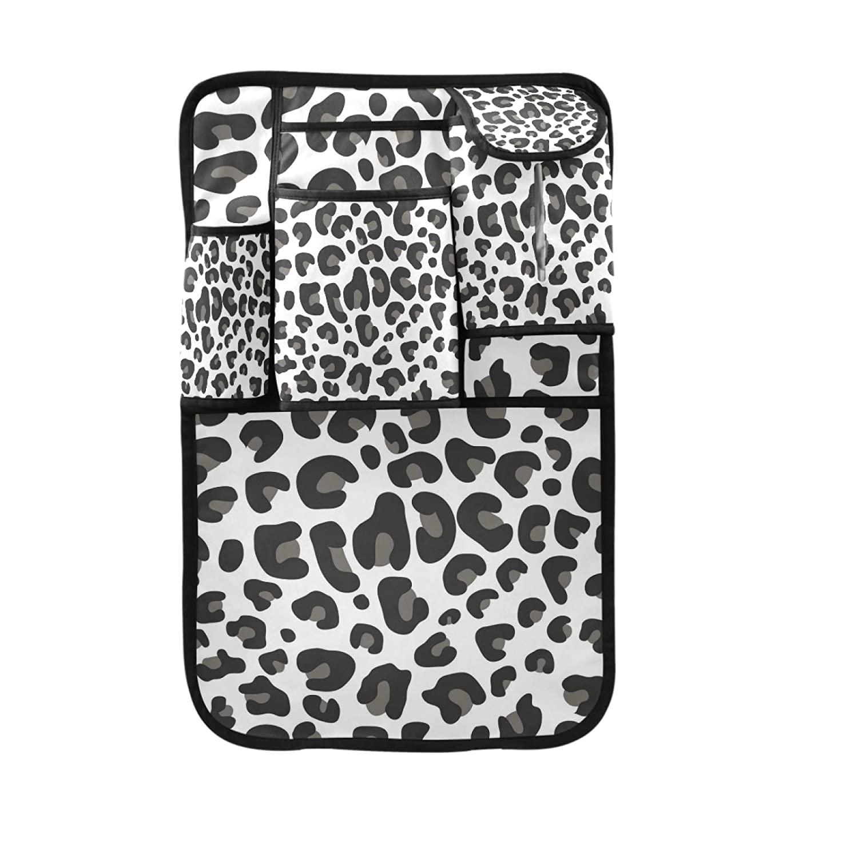 Car Organizer Back Seat, Leopard Print Backseat Car Organizer with Multi Storage Pockets   2 Bonus Hooks, Kick Mats Protector Travel Accessories (2 Pack)(bealb)