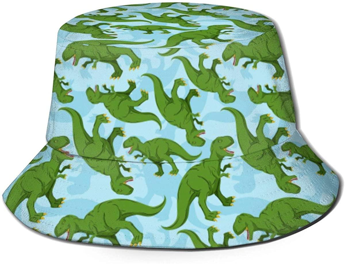 Dinosaur Dino Texture Pattern Unisex Packable Bucket Hat Summer Fisherman Hat Travel Beach Sun Cap for Men Women