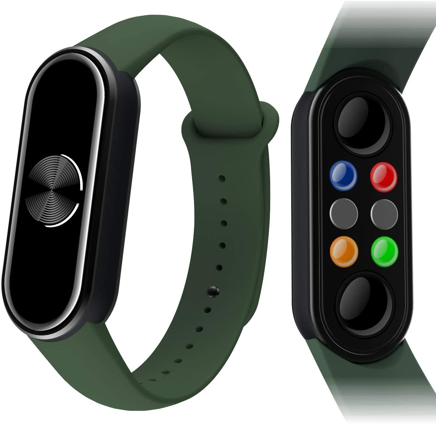 Magnetic Wristband Pain Relief for Arthritis and Carpal Tunnel Health Healing Bracelet ,with EMF Protection Radiation Sticker,American Design, Japanese Material.(Black/Green)