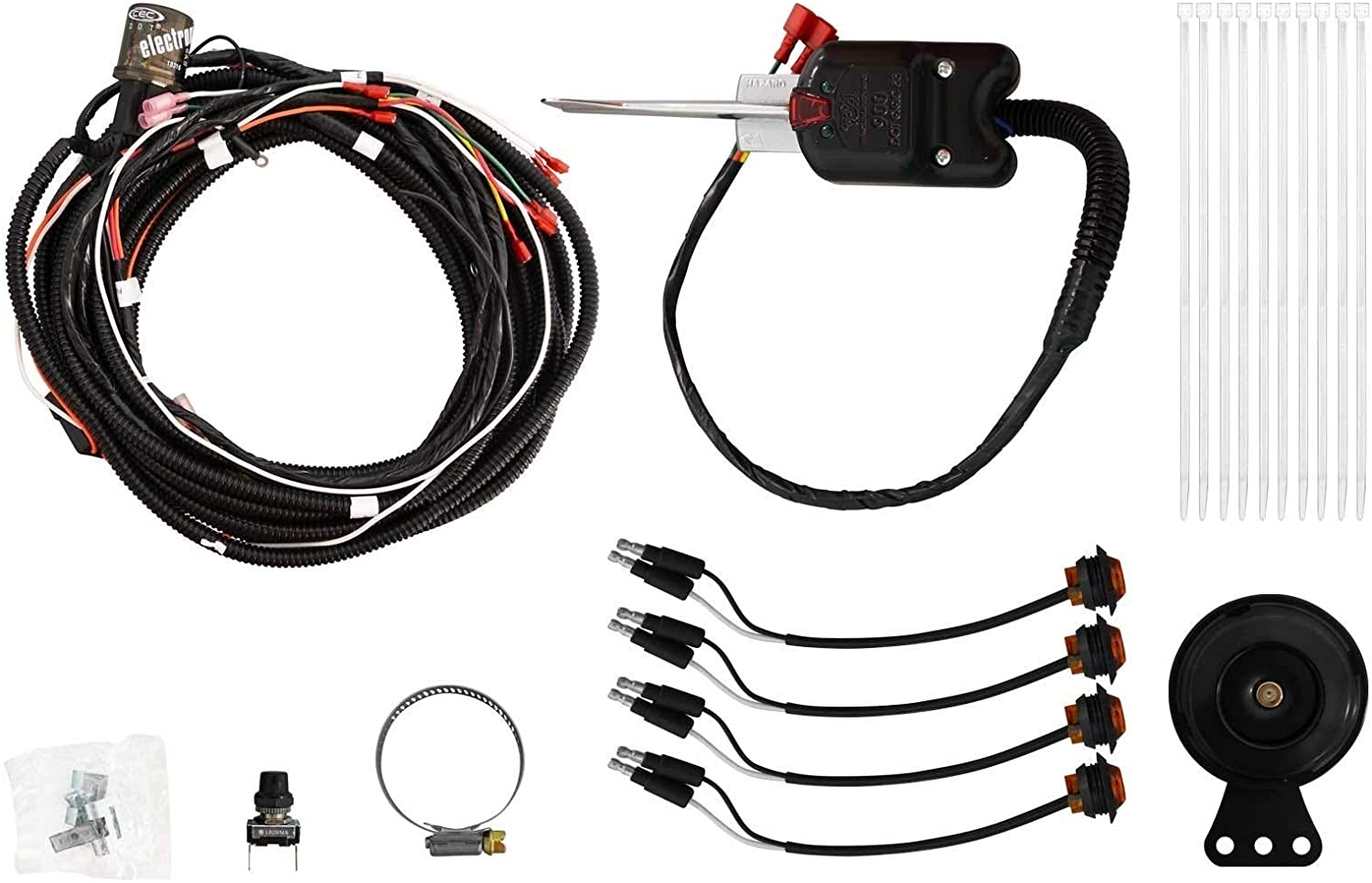 SuperATV Turn Signal Kit for Polaris RZR RS1 (2018+) - (with Steering Column and Dash Horn) - Plug and Play for Easy Installation!