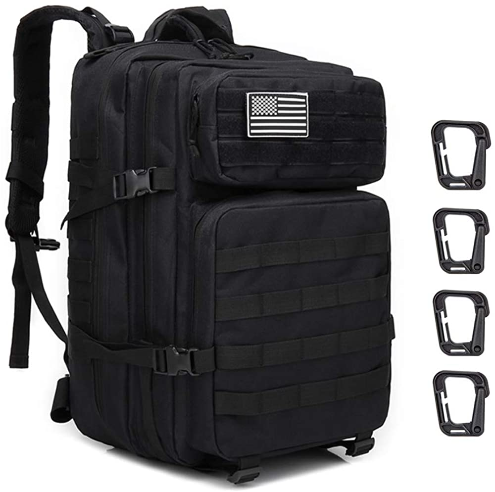 45L Military Tactical Backpack Large 3 Day Assault Pack Army Molle Bug Out Bag Backpacks Waterproof Rucksacks Daypack