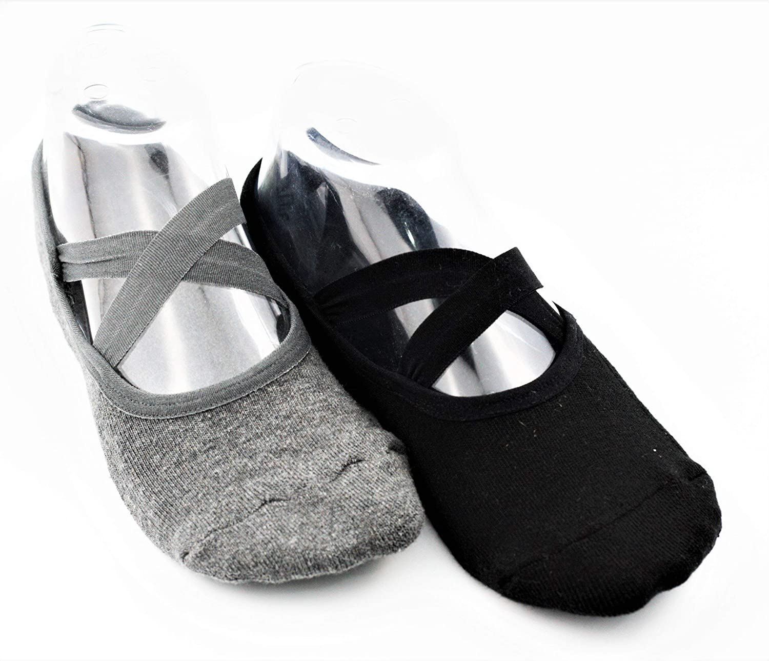 Cotton Yoga Socks Non Slip Ideal for Yoga Pilates Barre Fitness Sticky Toe Grip Socks Great as Slippers Too