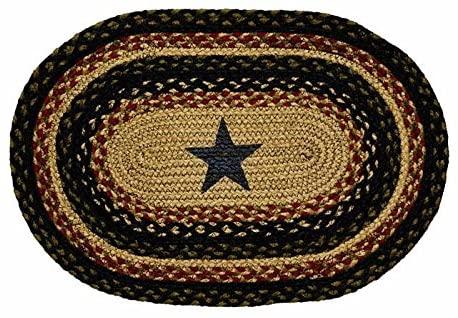 IHF Home Decor Tartan Star Braided Rug 20