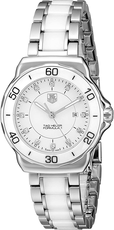 Tag Heuer Women's WAH1315.BA0868 Formula 1 Stainless Steel Sport Watch with Diamonds