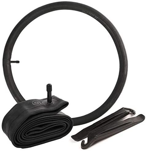 """LotFancy 2 Pack 20 Inch Bike Tubes, 20"""" x1.75/1.95 Schrader Valve (32mm) Bike Inner Tubes, Plus 2 Nylon Plastic Tire Levers"""
