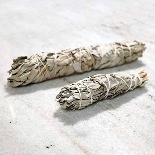 Galactikonsciousness California White Sage Bundle 1pc Natural Fragrance Incense Smudging Dried Herb Altar Tools Space Ritual Clearing Housewarming Gift Home (Medium - 25-35 Gram)