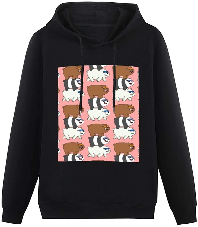 We Bare Bears Jigsaw Puzzle -(17) Hoodie Men's Teen Pullover Sweatshirt Comfy No Pocket