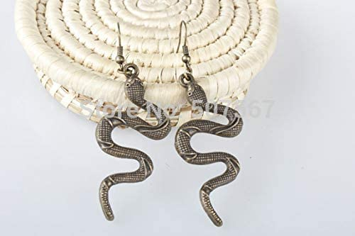 Retro Charm Bronze Snake Earrings, Earrings, Unique Gift, The Best Gift to a Friend