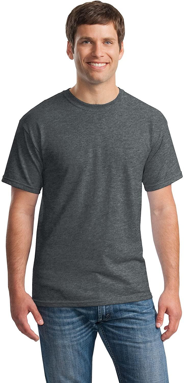 Gildan Mens 5.3 oz. Heavy Cotton T-Shirt (G500) -DARK HEATH -S