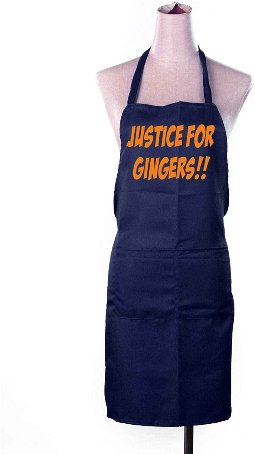 Festival-Fashion Funny Apron Mens Womens Cooking Novelty Rude Chefs Gift Justice for Gingers Navy