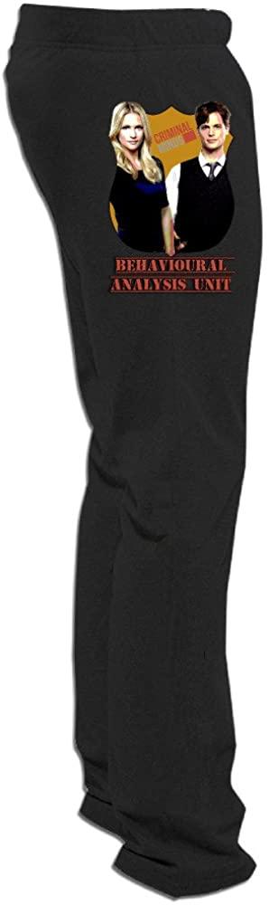 DETED Criminal Minds Couple Training Pants for Mens Black