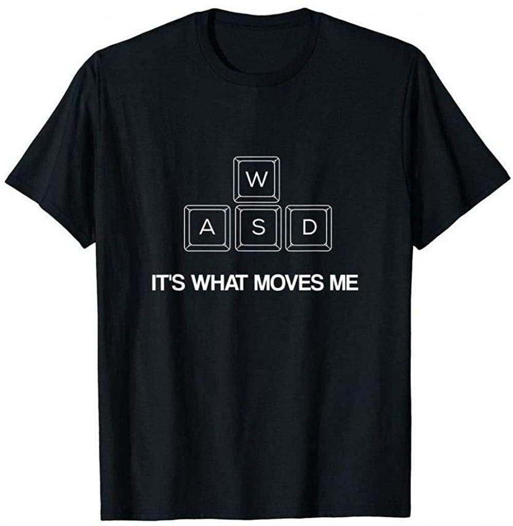 Nultat WASD-Funny-PC-Video-Gamer-Shirt-Gaming-T-Shirt Black