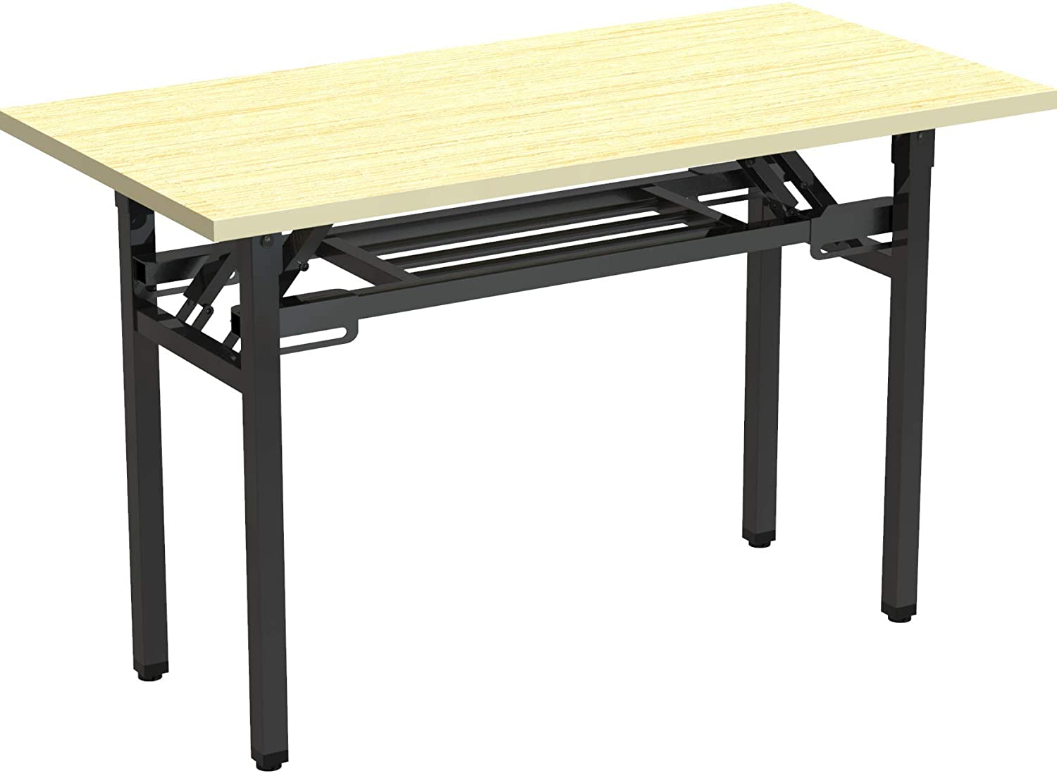 D&LE Portable Folding Computer Desk,Simple Foldable Study Writing Desk,Space Saving Small Laptop Table for Home School Without Assembly