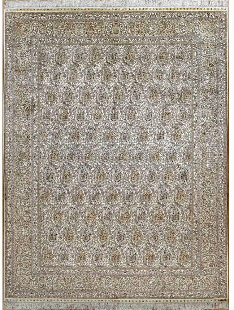 YILONG CARPET 8' x 11.5' Large Traditional Persian Silk Rug Classic Paisley Boteh Handmade Living Room Carpet 925A8x11.5