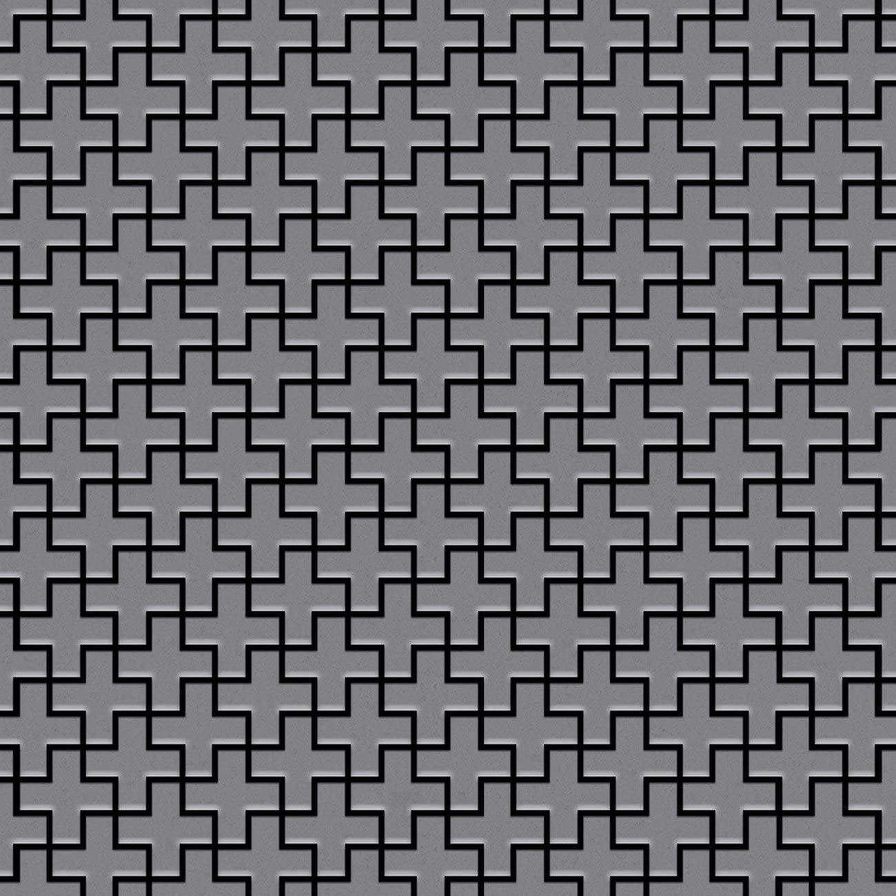 Mosaic Tile massiv Metal Stainless Steel matt Grey 1.6mm Thick ALLOY Swiss Cross-S-S-MA