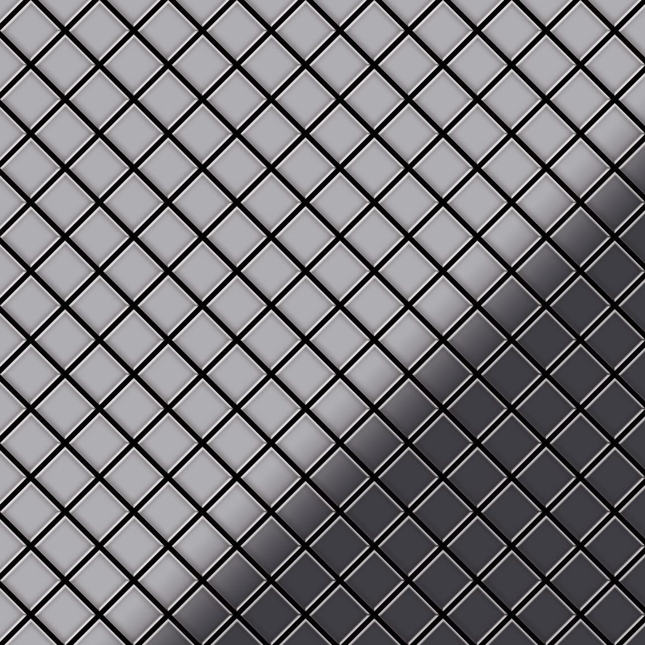 Mosaic Tile massiv Metal Stainless Steel Marine Mirror Grey 1.6mm Thick ALLOY Diamond-S-S-MM