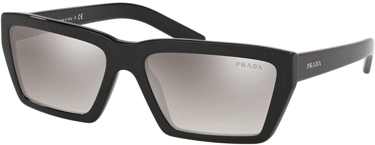 Prada CONCEPTUAL PR04VS Sunglasses 1AB5O0-59 -, Gradient Grey Mirror Silver PR04VS-1AB5O0-59