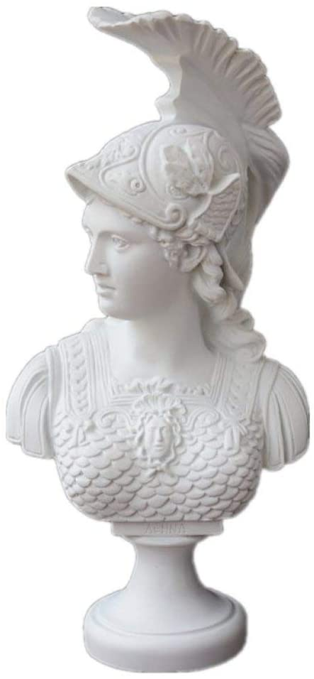 Deeing House Store Athena Roman Goddess Bust Resin Crafts Home Decoration