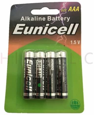Hillflower 12 Piece AAA LR3 LR03 AM4 MN2400 Card 0% Hg 1.5V Ultra Power Alkaline Light Prime Quality Battery