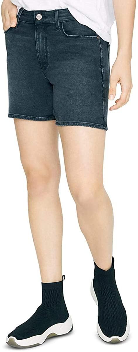 Sanctuary Denim Womens Long Weekend Faded Distressed Bermuda Shorts Black 28