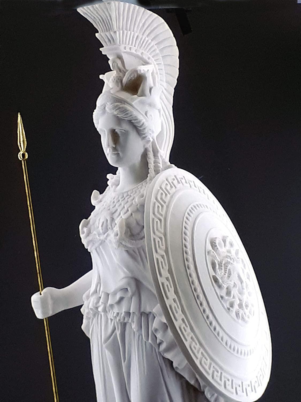 Athena Minerva Greek Roman Goddess Cast Marble Sculpture Statue 27.56in