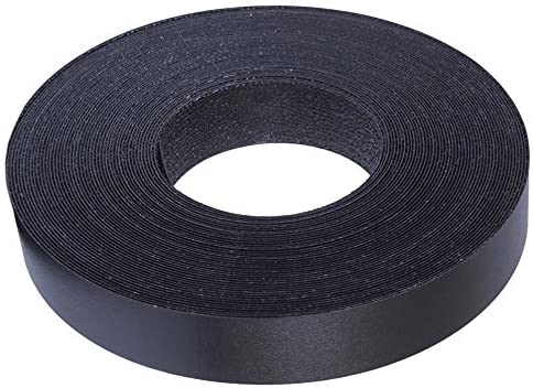 Edge Supply Black Melamine 13/16 inch X 50 ft roll of Black Edge Banding – Pre-glued Flexible Edging – Easy Application Iron-On Edging for Cabinet Repairs, Furniture Restoration (13/16 inch X 50 ft)