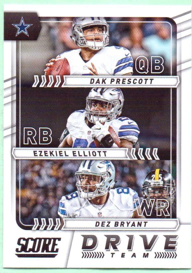 Dak Prescott, Ezekiel Elliott, Dez Bryant 2017 Score Drive Team #10 - Dallas Cowboys