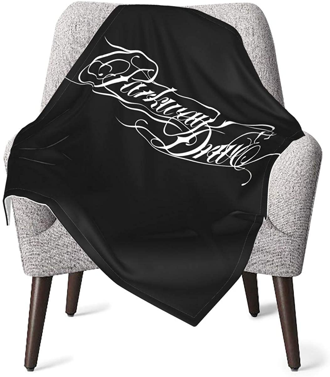 5husihai Parkway Drive Soft Baby Blanket for Baby Boy Or Girl Black