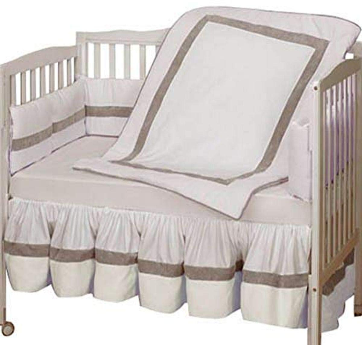 Baby Doll Bedding Classic II Crib Bedding Set, White