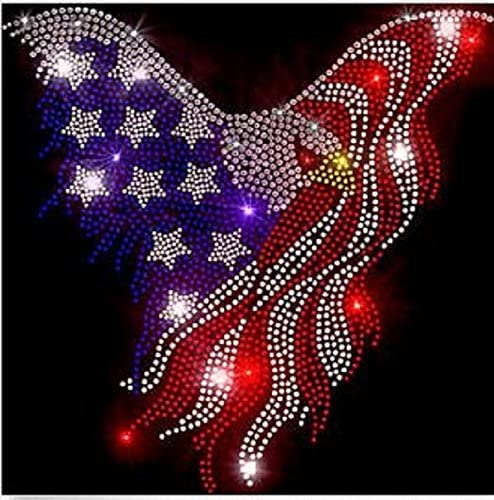 Eagle 4th of July Rhinestone Iron on Transfer