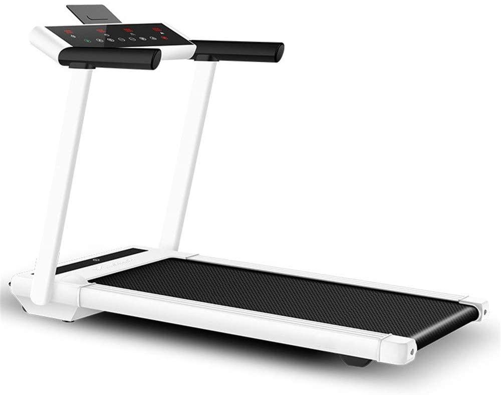 YADSHENG Treadmill White Intelligent Digital Folding Treadmill - Electric Folding Exercise Machine White Electric Folding Treadmil (Color : White, Size : 1530x715x1120mm)