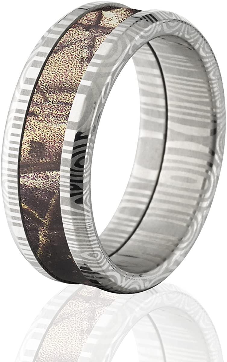 8mm Realtree Camo Rings & Camo Wedding Rings