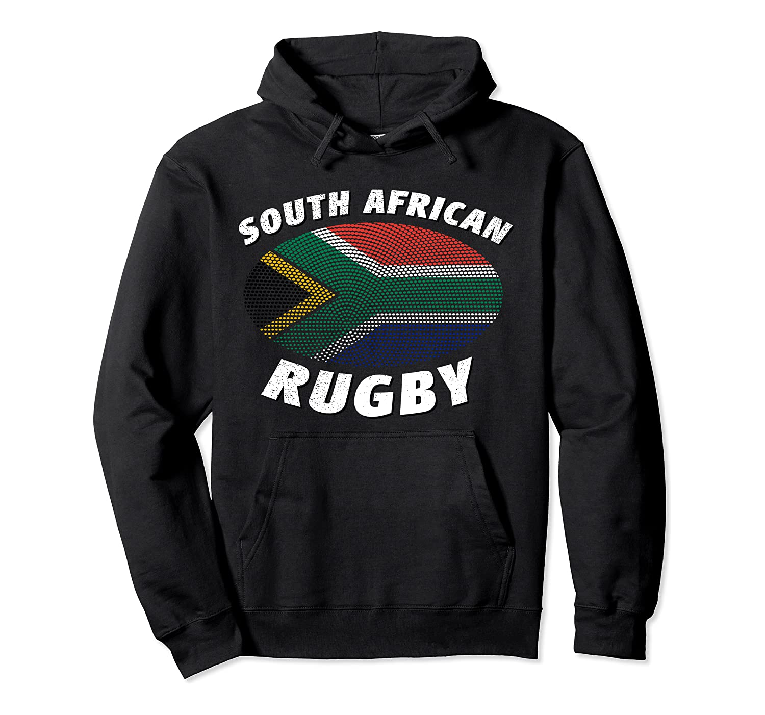 South African Rugby & South Africa Flag Pullover Hoodie