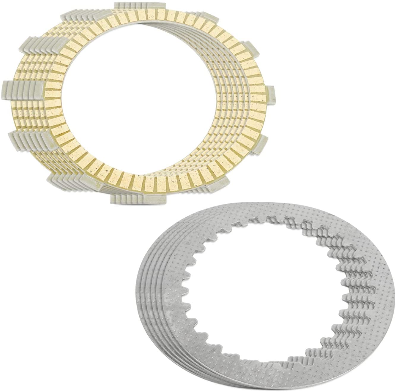 Caltric compatible with Clutch Friction and Steel Plates Kawasaki ZX550A Gpz550 1984 1985 1986
