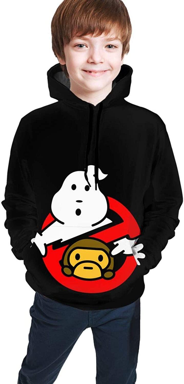 Wehoiweh Ba-Pe and Ghostbusters Youth Boys Girls 3D Print Pullover Hoodies Hooded Seatshirts Sweaters