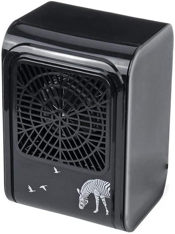 Portable Mini Electric Heater Fan Desktop Warmer Adjustable 2 Gear Warmer Suitable for Winter Living Room Bedroom Office,Black 110v